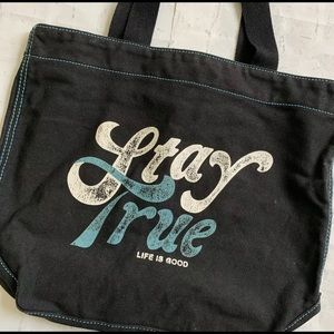 Life is Good Tote Bag Large Heavy Duty Canvas
